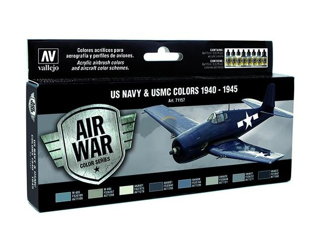 Vallejo Model Air Set - US NAVY & USMC Colors WWII 1940-1945