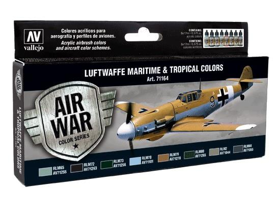 Vallejo Model Air Set - Luftwaffe Maritime and Tropical colours
