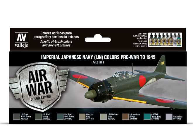 Model Air Paint Set - Imperial Japanese Navy (IJN) Colors Pre-War to 1945