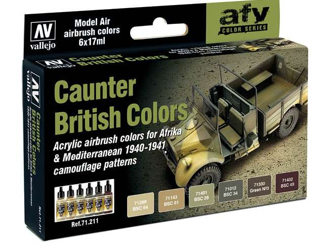Model Air Set - British Caunter Colors