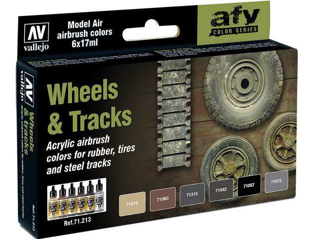 Vallejo Model Air Paint Set - Wheels & Tracks