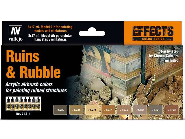 Vallejo Model Air Paint Set - Ruins & Rubble