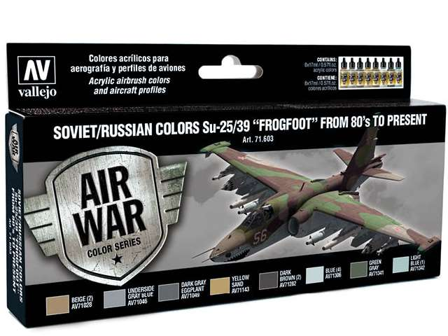 Model Air Set - Soviet/Russian Colours SU-25/39 Frogfoot from 80'S to Present