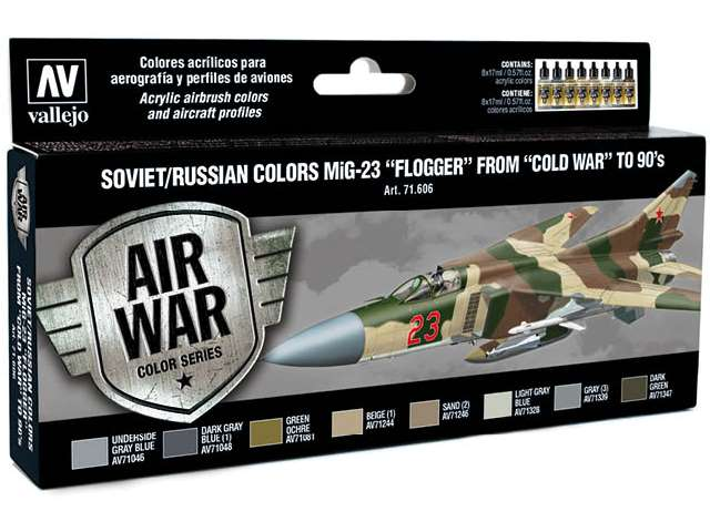 Vallejo Model Air Set - Soviet Mig-23 Flogger