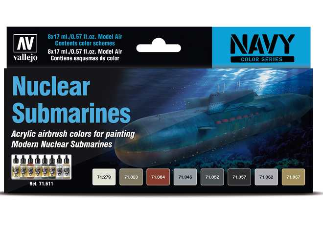 Model Air Paint Set - Nuclear Submarines