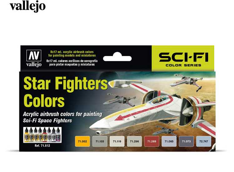 Vallejo Model Air Acrylic Paint Set - Star Fighters Colours 71612