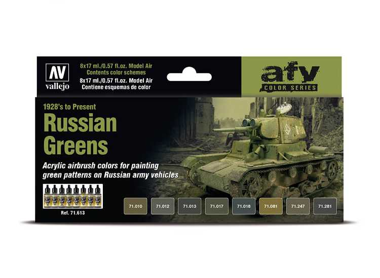 Model Air Acrylic Paint Set - Russian Greens 1928's to Present