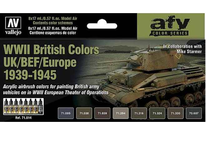 Model Air Set - WWII British Tank Colours 1939-45 UK/BEF/Europe