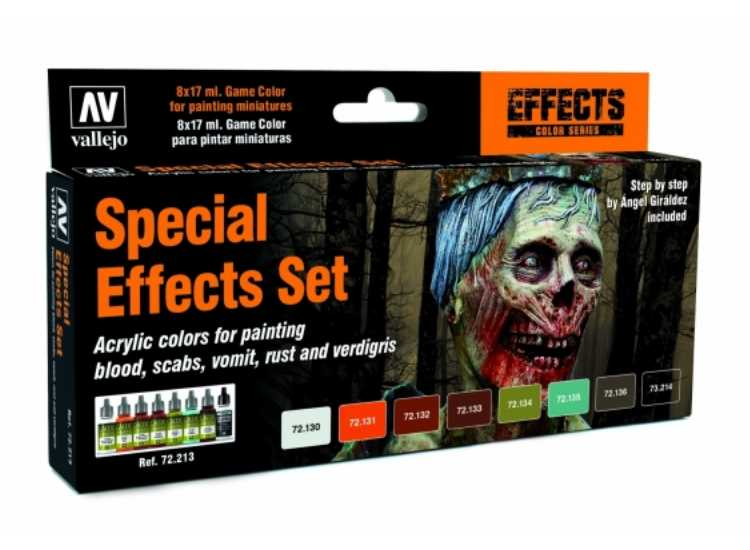 Vallejo Game Acrylic Color Paint Set - Special Effects 72213