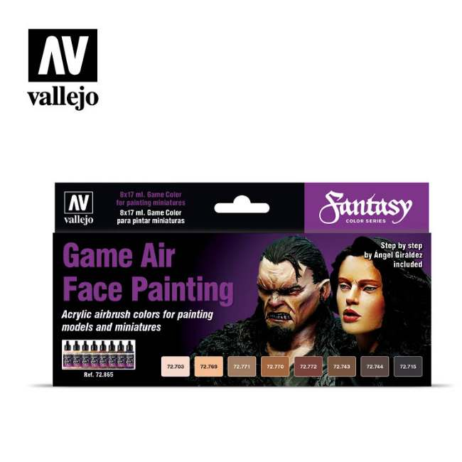 Game Air Face Painting Set (Fantasy)
