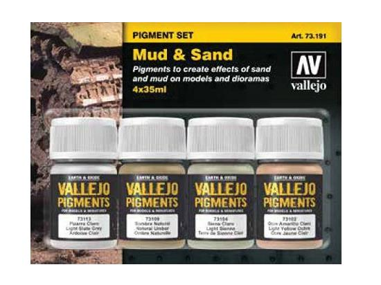 Vallejo Pigment Set - Mud and Sand