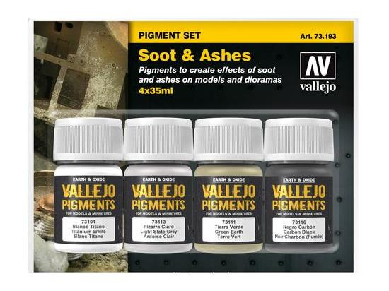 Vallejo Pigment Set - Soot and Ashes