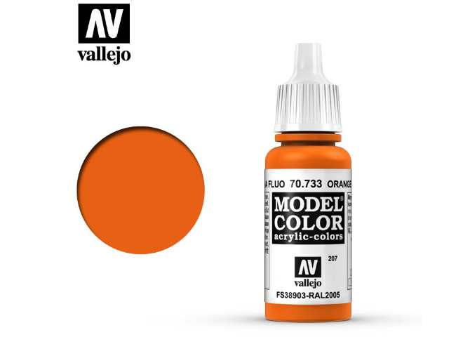 207 Model Color - Fluorescent Orange 733