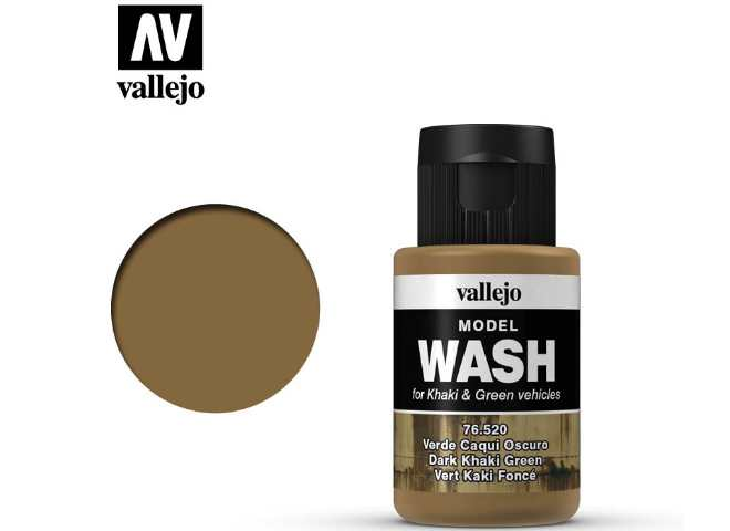 Vallejo Dark Khaki Green Wash