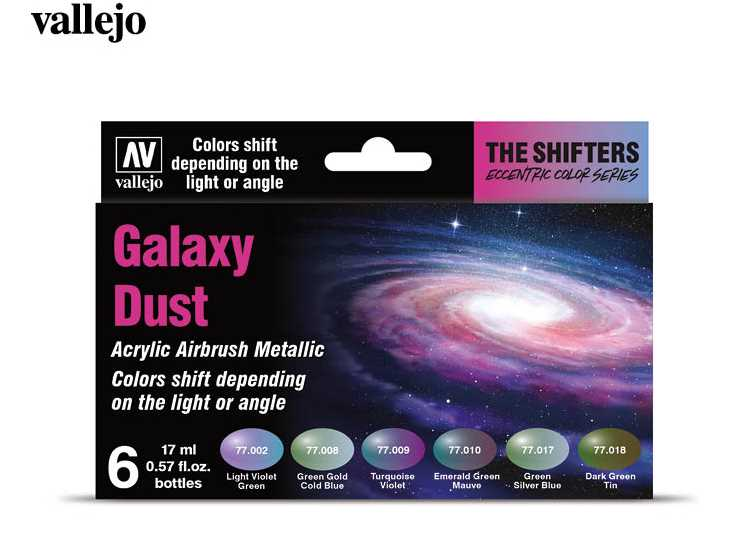 Vallejo Model Air Acrylic Paint Set - Galaxy Dust