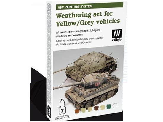 AFV Painting System Weathering for Yellow and Grey Vehicles