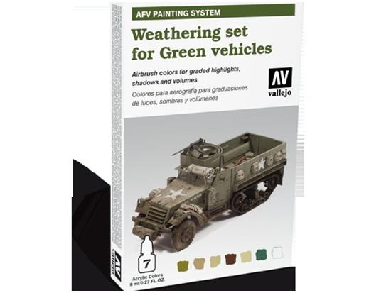 AFV Painting System Weathering for Green vehicles