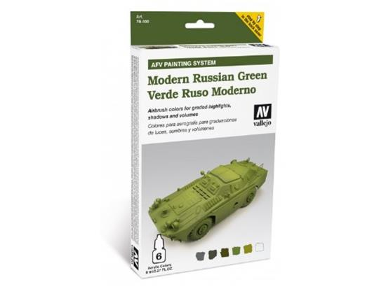 Vallejo AFV Painting System Modern Russian Green