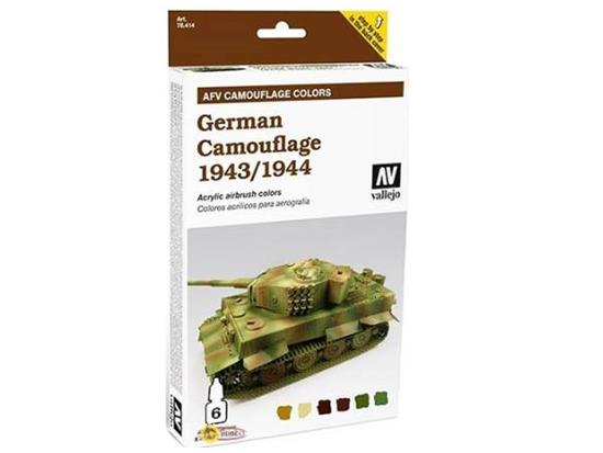 Vallejo Armour Acrylic Model Air Paint Set - German Camouflage 1943-45
