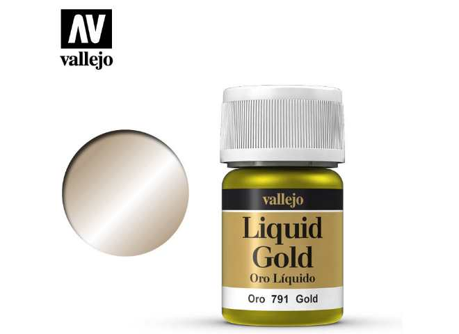 Vallejo 35ml 791 212 Model Color - Metallic Gold