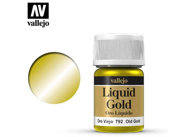Vallejo 35ml 792 213 Model Color - Metallic Old Gold