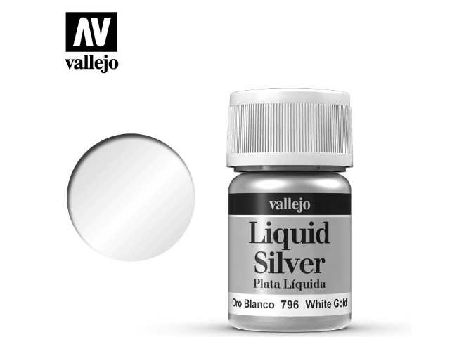 Vallejo 35ml 796 217 Model Color - Metallic White Gold 796
