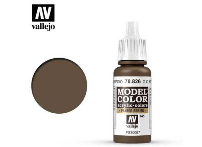 Vallejo 17ml 826 145 Model Color - German cam Medium Brown 826