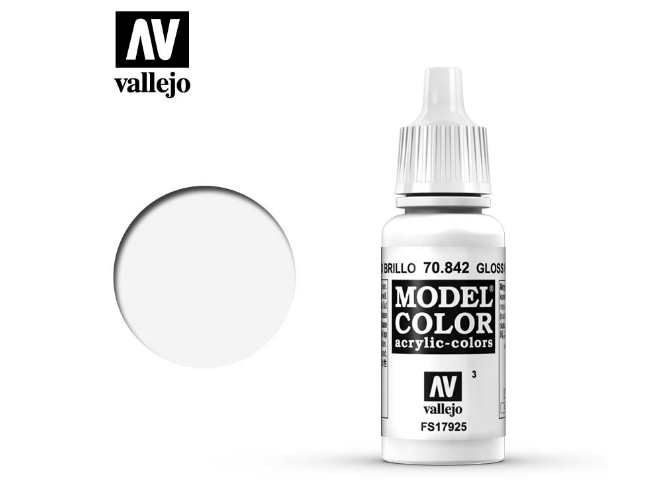 Vallejo 17ml 842 003 Model Color - Gloss white 842