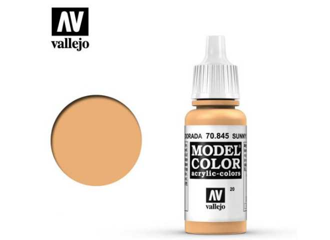 Vallejo 17ml 845 020 Model Color - Sunny Skintone 845