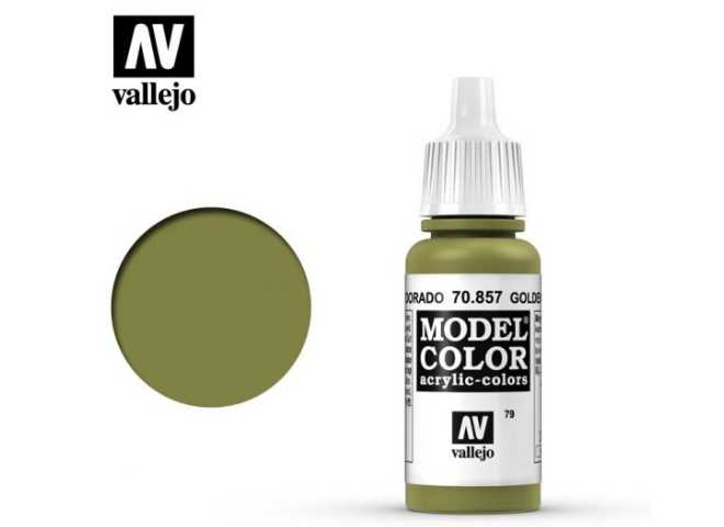 Vallejo 17ml 857 079 Model Color - Golden Olive 857