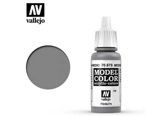Vallejo 17ml 870 158 Model Color - Medium Sea Grey 870