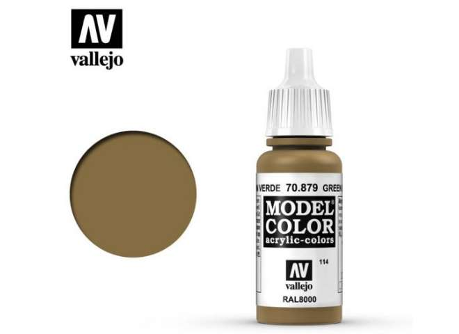 Vallejo 17ml 879 114 Model Color - Green Brown 879