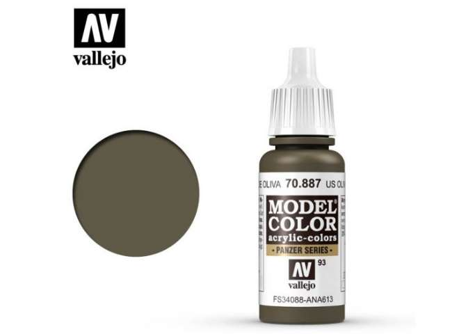 Vallejo 17ml 887 093 Model Color - US Olive Drab 887