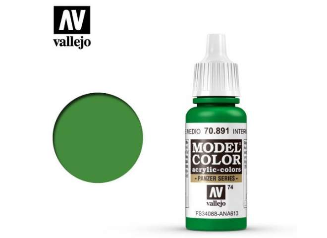 Vallejo 17ml 891 074 Model Color - Intermediate Green 891