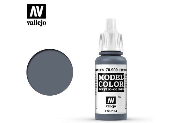 Vallejo 17ml 900 059 Model Color - French Mirage Blue 900