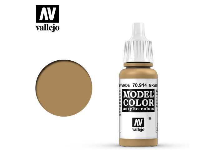 Vallejo 17ml 914 119 Model Color - Green Ochre 914