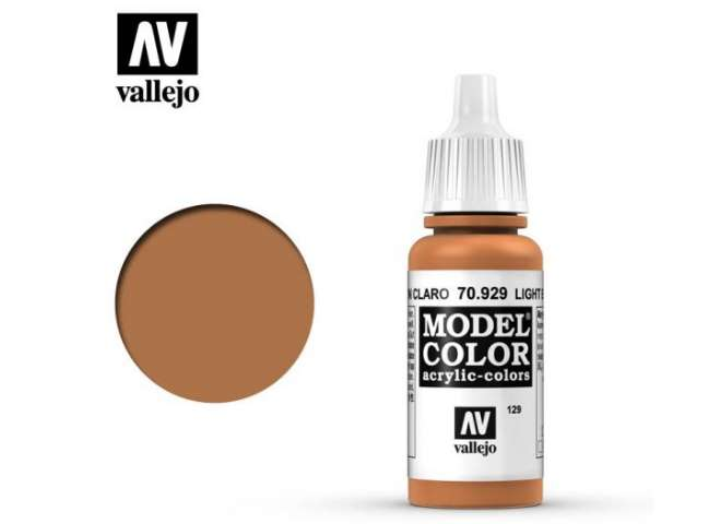 Vallejo 17ml 929 129 Model Color - Light Brown 929