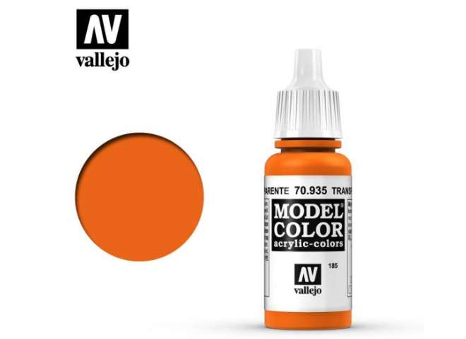 Vallejo 17ml 935 185 Model Color - Transparent Orange 935