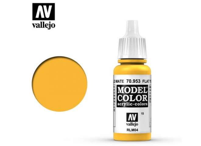 Vallejo 17ml 953 015 Model Color - Flat Yellow 953