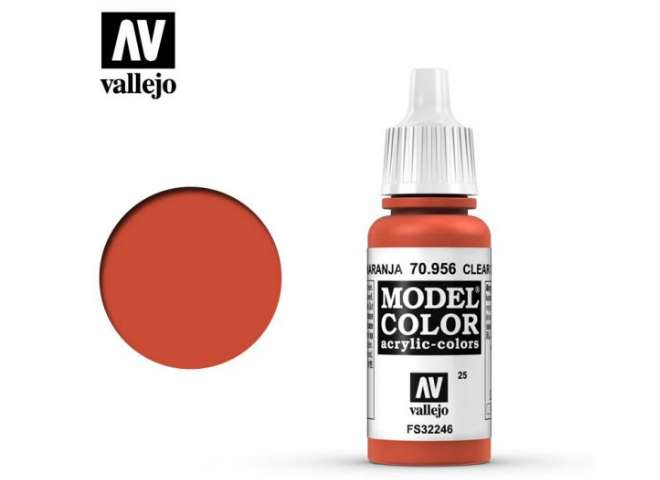 Vallejo 17ml 956 025 Model Color - Clear Orange 956