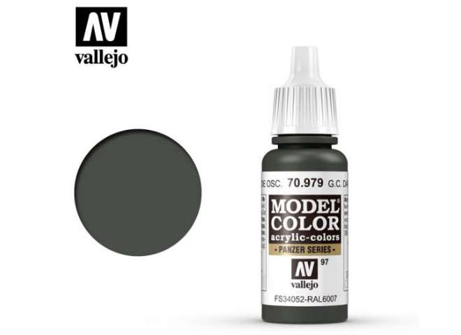 Vallejo 17ml 979 097 Model Color - German Cam Dark Green 979