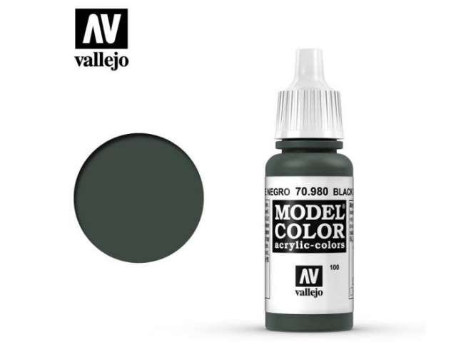 Vallejo 17ml 980 100 Model Color - Black Green 980