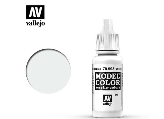 Vallejo 17ml 993 151 Model Color - Flat Aluminium / White Grey 993