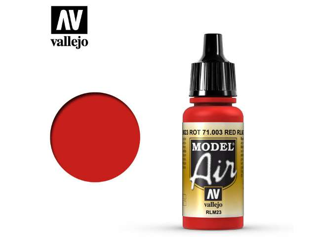 Vallejo 17ml MA003 Model Air - 003  Scarlet Red