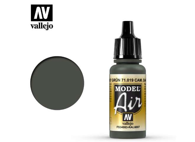 Vallejo 17ml MA019 Model Air - 019  Camouflage Dark Green