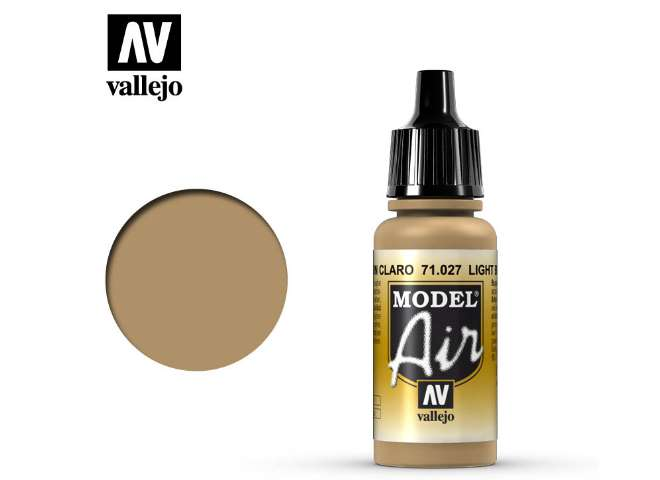 Vallejo 17ml MA027 Model Air - 027  Light Brown