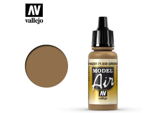 Vallejo 17ml MA030 Model Air - 030  Green Brown