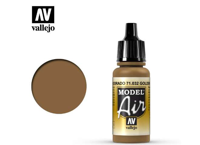Vallejo 17ml MA032 Model Air - 032  Golden Brown