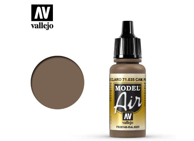Vallejo 17ml MA035 Model Air - 035  Camouflage Light Brown