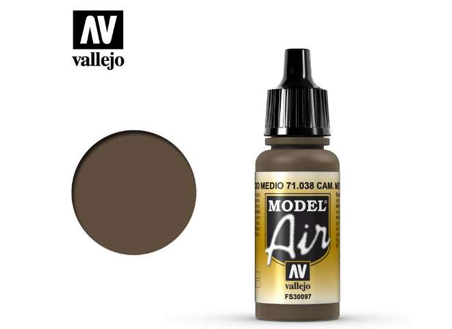 Vallejo 17ml MA038 Model Air - 038  Camouflage Medium Brown